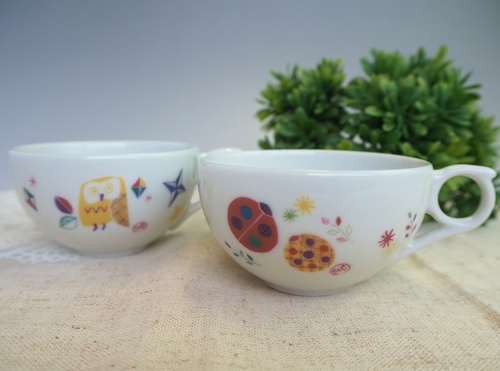 オリジナル九谷焼 ミニティーカップ  デジタル印刷