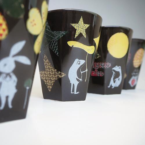九谷焼ロックカップ ラッキーモチーフ