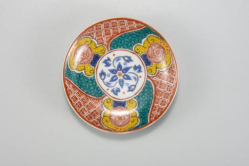 九谷焼 麗和シリーズ 花紋・まねきねこ 小皿