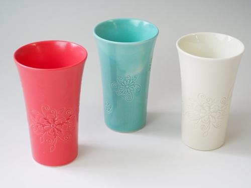 サンドブラスト彫刻 九谷焼フリーカップ