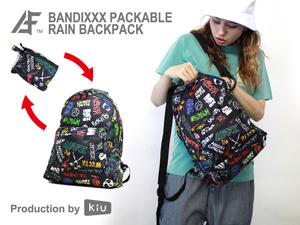 AFFECTER×KiU  PACKABLE RAIN BACKPACK ZIPPER  BANDIXXX BLACK