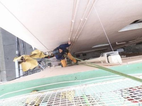 神戸市中央区のマンションのハト防除工事