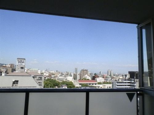 神戸市中央区のマンションベランダネット張り、管理事務所からの紹介で2件施工