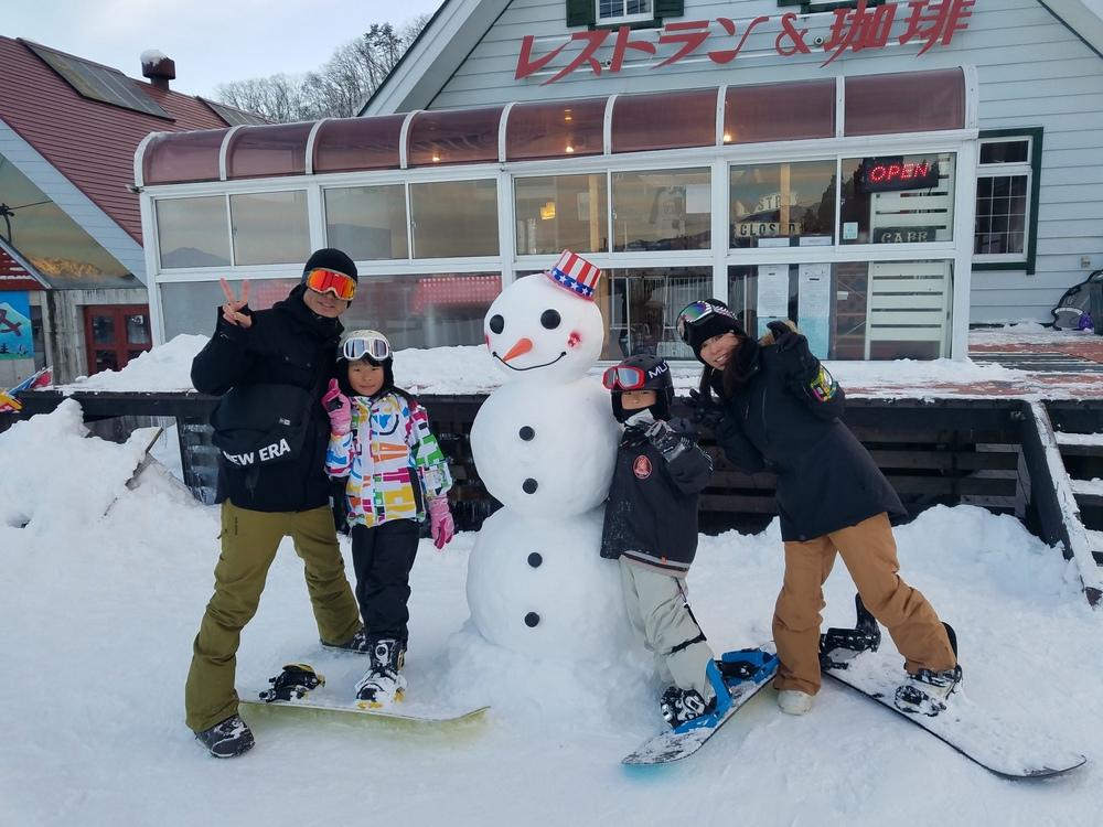 正月旅行deスノーボードin長野