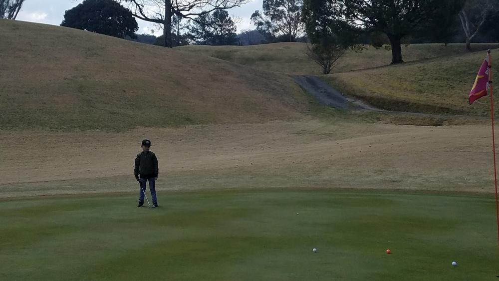 9才の息子がゴルフデビュー