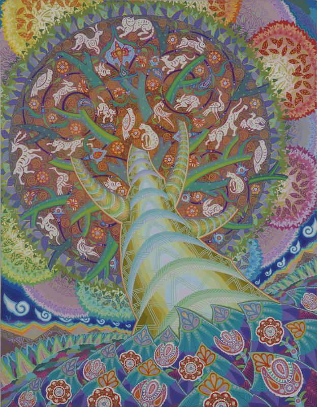 003 「樹」 F50号 キャンバス/アクリル 2002年制作 2002年ニューヨーク、ウエストウッドギャラリー「Japan Art Alliance」出展  販売価格¥2,000,000(税別/額付き)