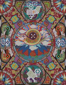 004 「登頂」 F50号 キャンバス/アクリル 1999年制作 2002年ニューヨーク、ウエストウッドギャラリー「Japan Art Alliance」出展 販売価格¥2,000,000(税別/額付き)