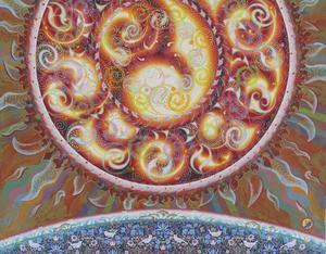 009 「陽(ひ)」 F50号 キャンバス/アクリル 2009年制作 土、水、火、風、空シリーズの 「火」※収蔵作品