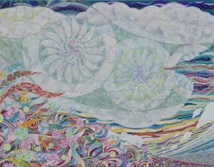 010 「風(かぜ)」 F50号 キャンバス/アクリル 2010年制作 土、水、火、風、空シリーズの「風」 ※収蔵作品