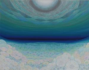 011 「空(くう)」 F50号 キャンバス/アクリル 2011年制作 土、水、火、風、空シリーズの 「空」 ※収蔵作品
