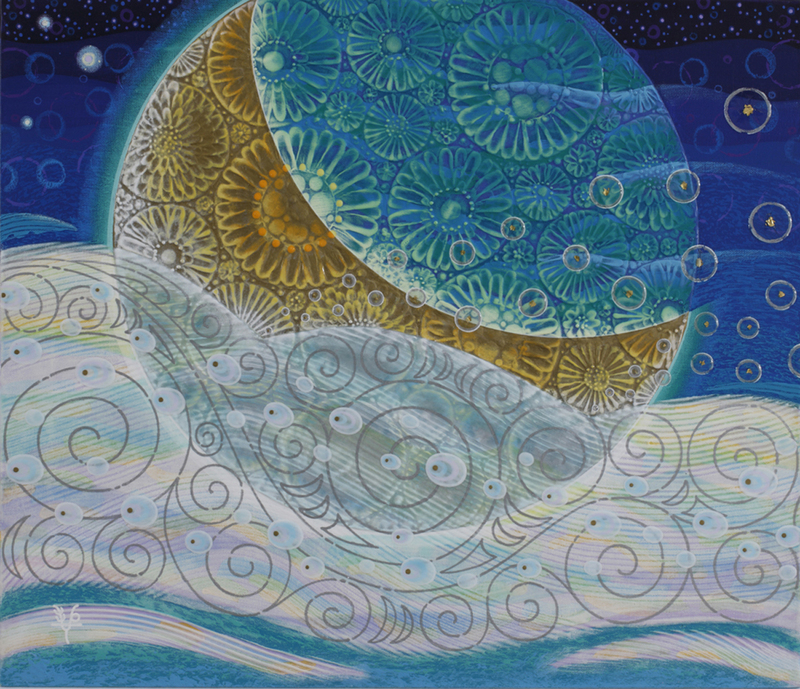 012 「月の船」 F10号 キャンバス/アクリル 2012年制作 ※収蔵作品