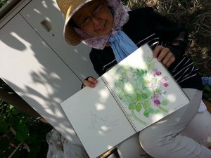 「エンドウの花」のスケッチ