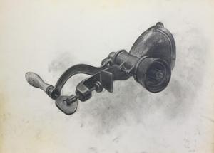007_鉛筆デッサン ミンチ機 55×40㎝