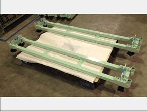 【ねじれを考慮したパイプの溶接品】マテハン向け台車・繊維工場内搬送用架台・フレーム