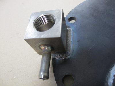 【TIG溶接による異種材の接合品】鉄(SS400)とステンレス(SUS304)の油圧部品