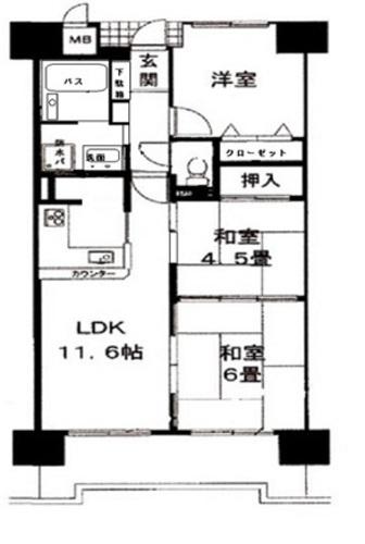 ファミール武庫川東 1階部分