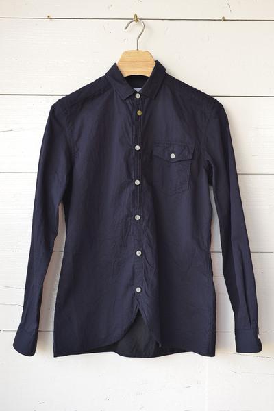 【Re Made in Tokyo Japan (Men's) (トップス、ボトムス)】Giza Twill Round Hem Shirt