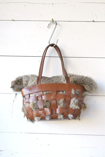 【Ampersand (バッグ・財布)】parts mesh fur tote bag