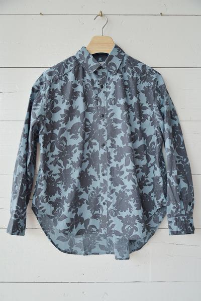 【RNA (トップス、ボトムス)】シャドーフラワービッグシャツ