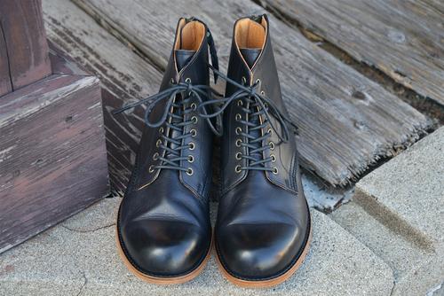 【PADRONE (レザーシューズ)】BACK ZIP LACE UP BOOTS