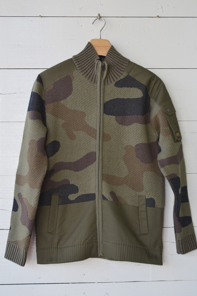 【G-STAR (Men's)(トップス、ボトムス)】Camo Jacquard Knitted Jacket